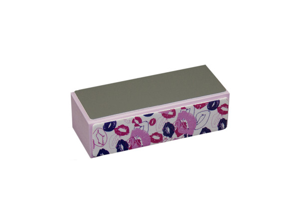 Hochglanz Polierblock Pink Design Kisses 10er Set