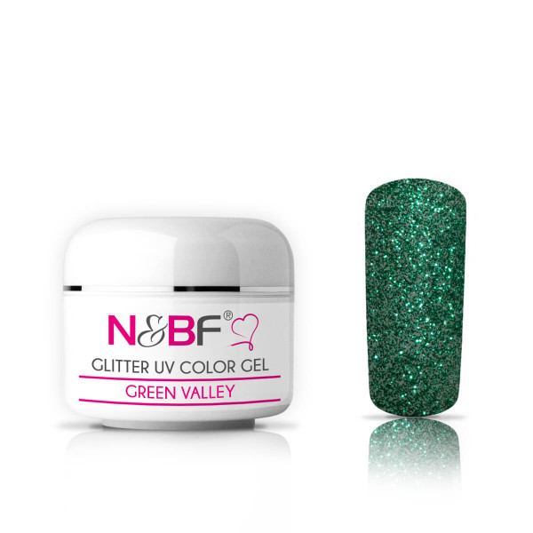 Nails-and-Beauty-Factory-Glitter-UV-Color-Gel-Farbgel-Green-Valley