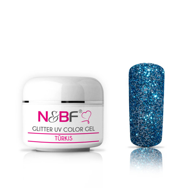 Nails-and-Beauty-Factory-Glitter-UV-Color-Gel-Farbgel-Tuerkis