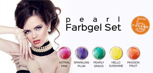 Gel colorato Pearl set da 5