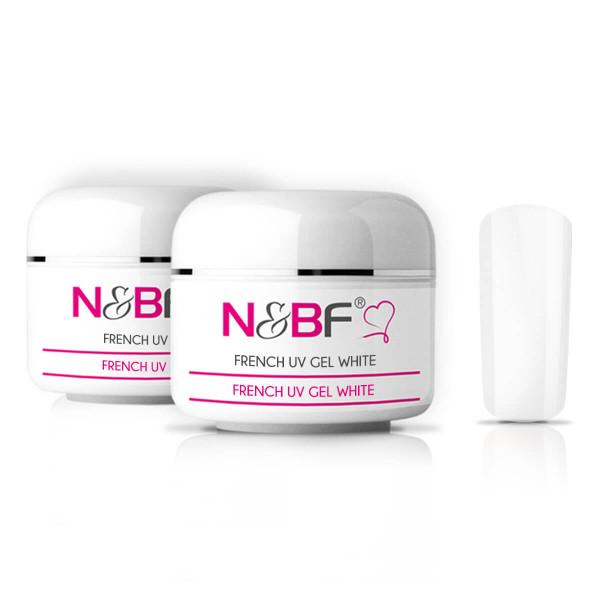 Nails-Beauty-Factory-French-UV-Gel-White-2x30-ml-Set