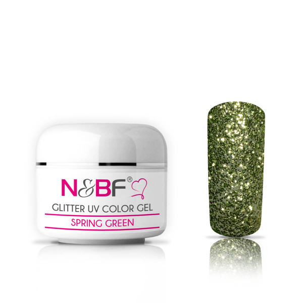 Nails-and-Beauty-Factory-Glitter-UV-Color-Gel-Farbgel-Spring-Green